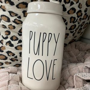 LAST ONE! Rae Dunn PUPPY LOVE treat canister